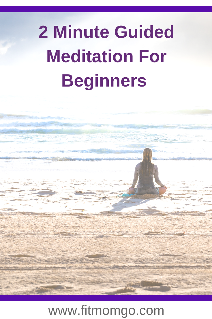This is an easy 2 Minute Guided Meditation for Beginners. Perfect to get started with a peaceful day. #meditate