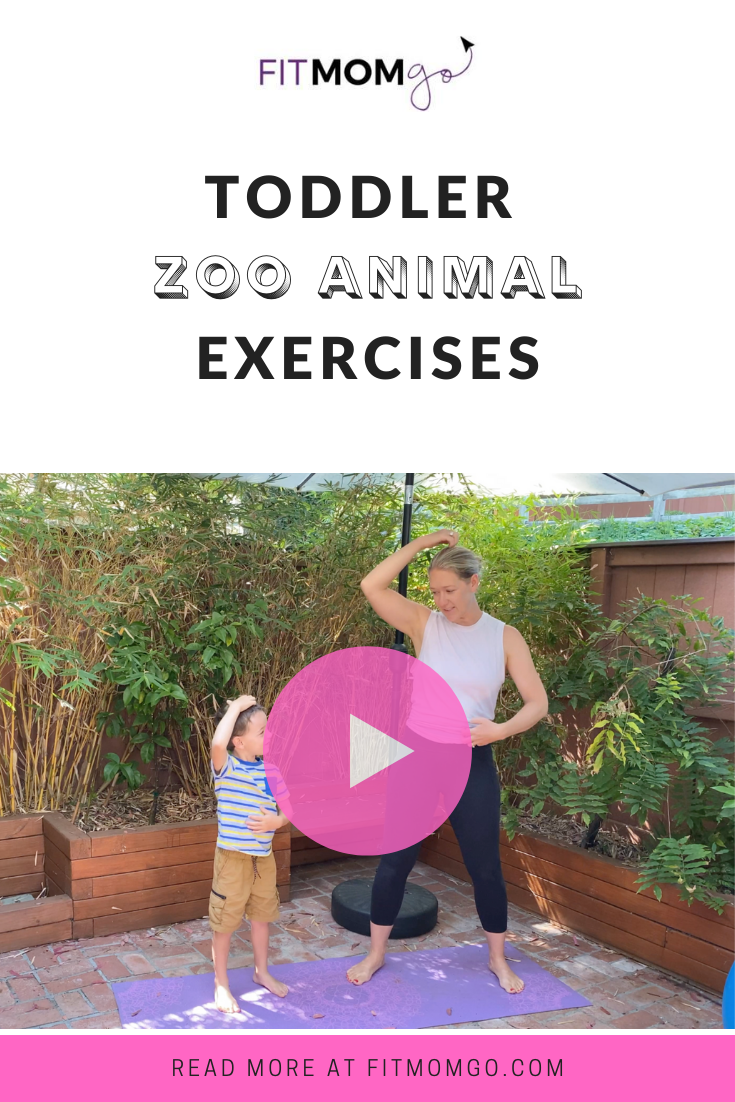 Toddler Zoo Animal Exercises Video With Personal Trainer Erin Kendall #ToddlerWorkout #ToddlerExercises #KidWorkout #KidExercise