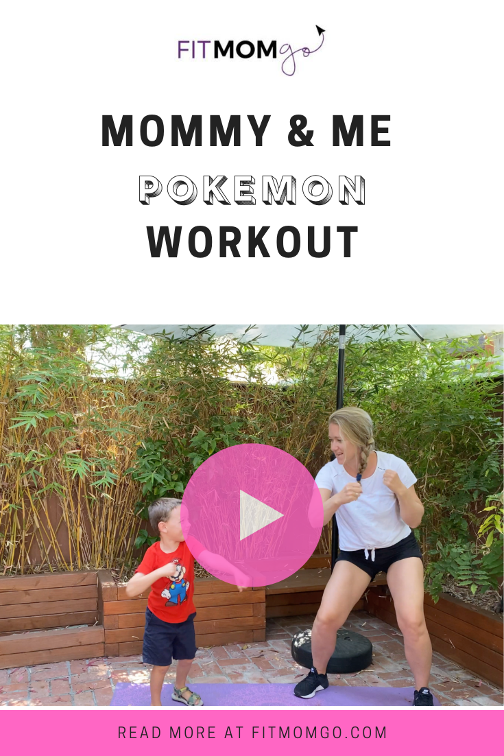 Mommy & Me Pokemon Workout Video #Pokemon #MommyAndMe #MommyAndMeWorkout #AtHomeWorkout