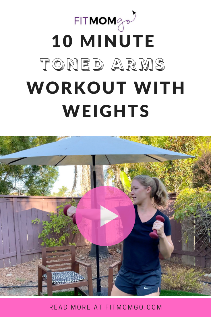 10 Minute Toned arms workout with weights #armworkout #upperbodyworkout #workoutforwomen