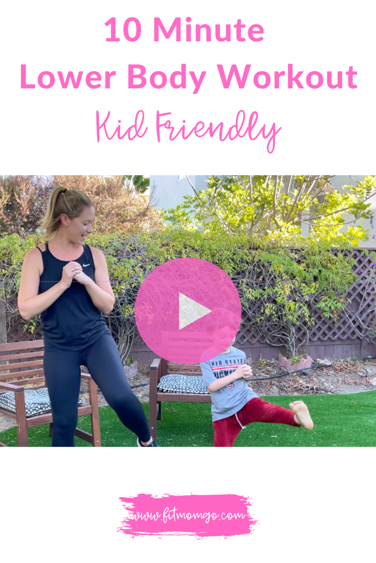 10 Minute Lower Body Workout Video | Kid Friendly #lowerbodyworkout #womensworkout #kidfriendly #kidsworkout #workoutvideos