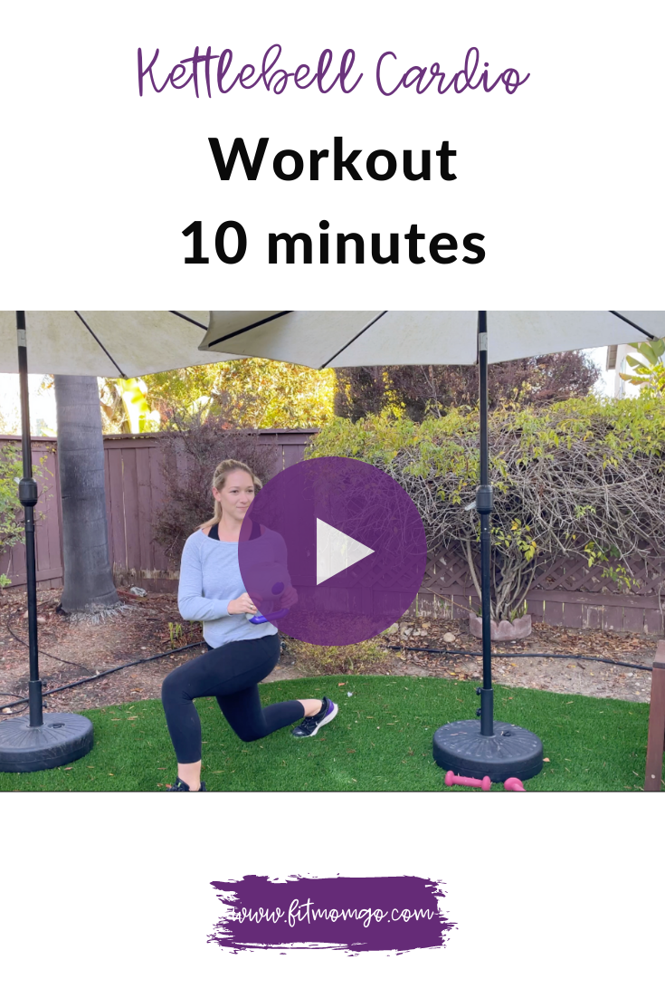 Kettlebell Cardio Workout Video 10 Minutes | Fit Mom Go #kettlebellworkout #cardioworkout #workoutsforwomen #workoutvideos #quickcardioworkout