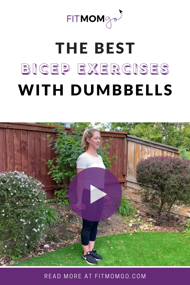 The Best Bicep Exercises With Dumbbells #armworkout #upperbodyworkout #quickworkouts #workoutsforwomen #fitnessformoms