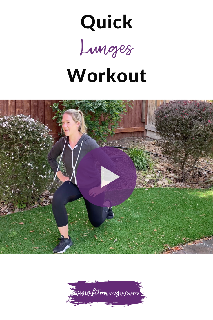 Quick Lunges Workout | Fit Mom Go #lunges #legworkout #lowerbodyworkout #quickworkout