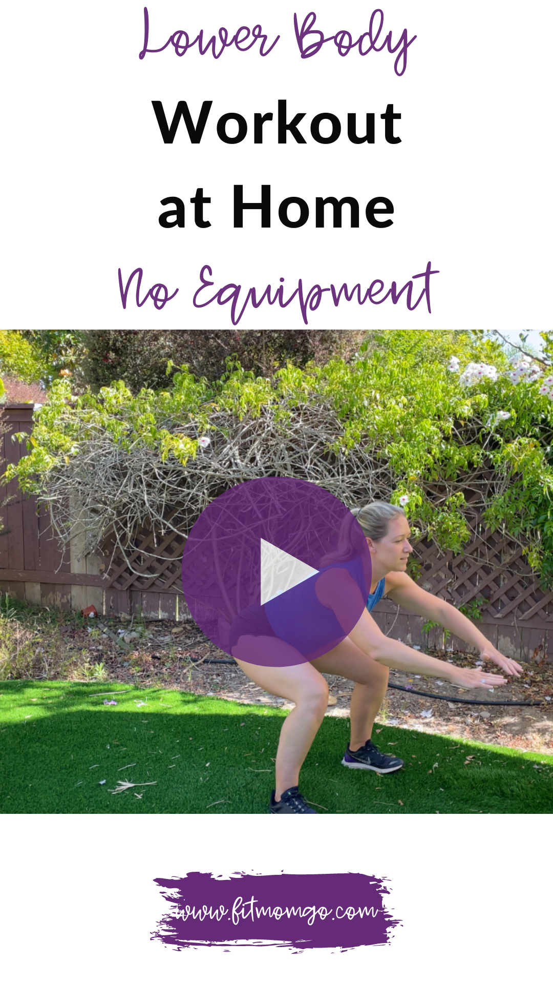 Lower Body Workout at Home No Equipment