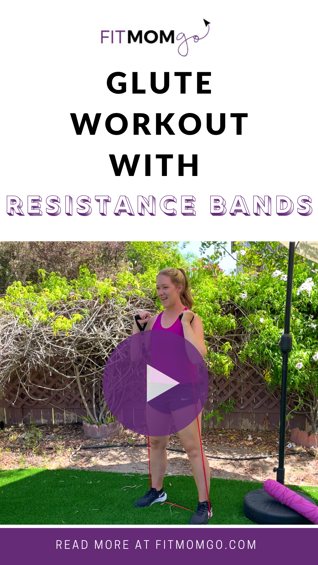 Glute Workout With Resistance Bands #lowerbodyworkout #gluteworkout #resistancebands #resistancebandworkout #quickworkouts #quickworkout